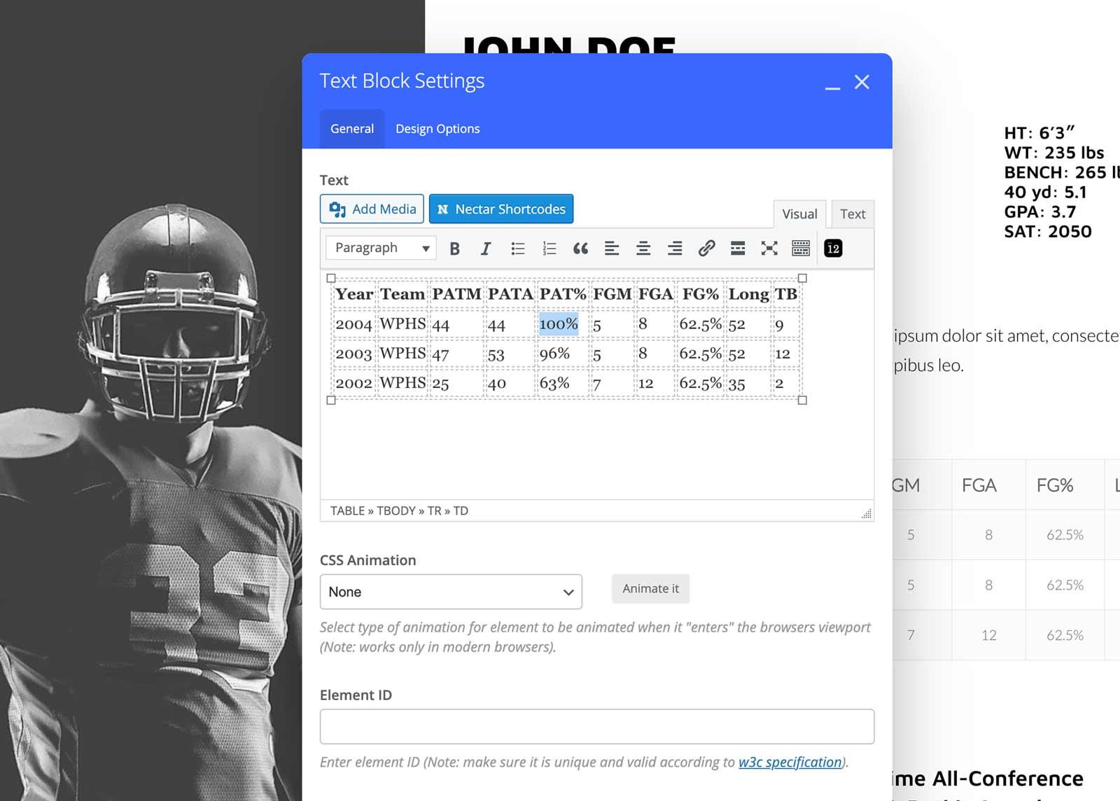 Edit Athlete Profile 2