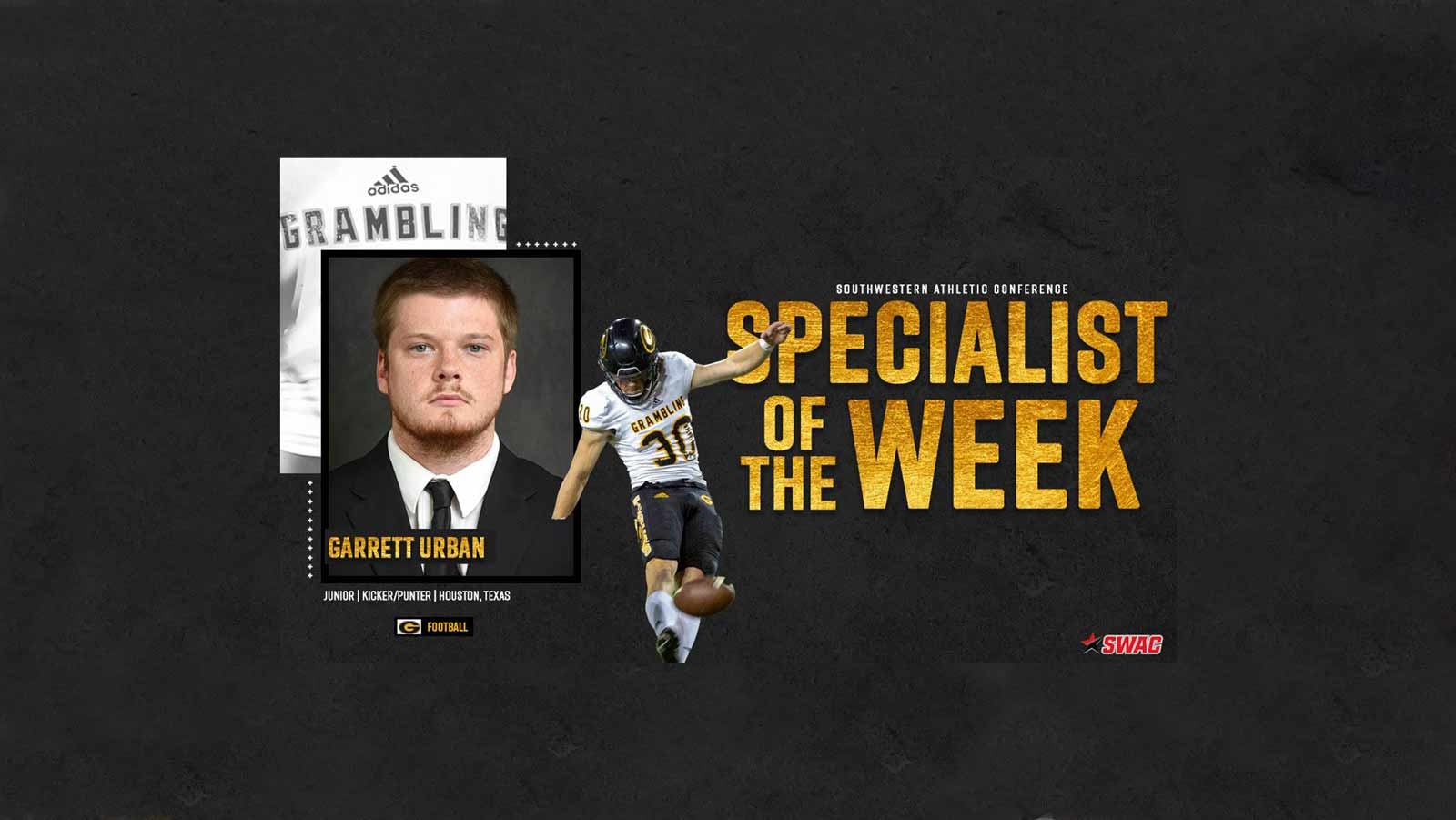 Urban Named SWAC Player of the Week